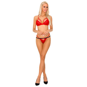 Corsetti Tarinas Red Bra and Panty Set