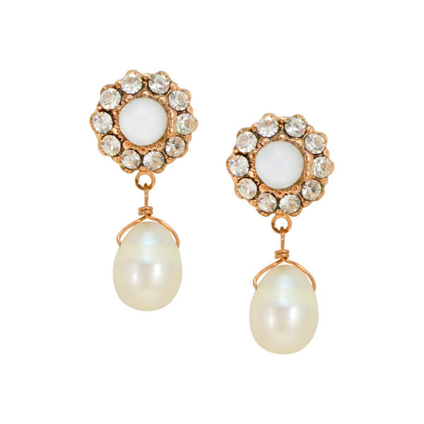 Pearl Drop Earrings by AMARO