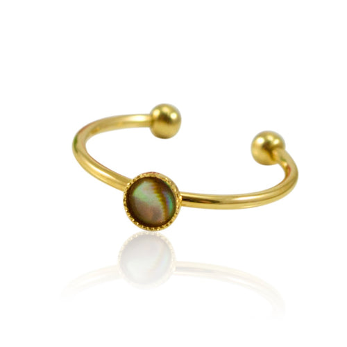 Mother of Pearl Stackable Ring by Eric et Lydie