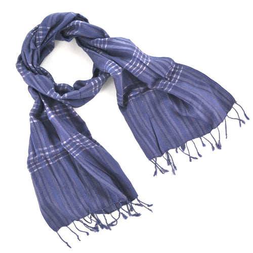 Cambodian Handwoven Scarf - Purple
