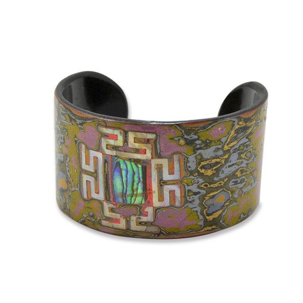 Mother of Pearl and Lacquer Cuff - One Size Fits Most