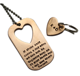 Stay Forever Necklace with Key Chain - Copper