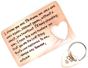 Choose You with Key Chain- Copper