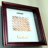 Woven Hand Stamped Wall Art with Nameplates - Copper