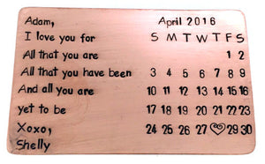 All That You Are Calendar- Copper