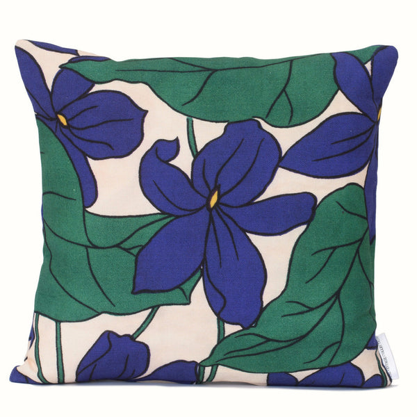 Purple Floral Cushion Cover