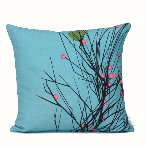 Leaf Heart Cushion Cover