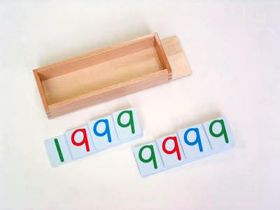 Large Plastic Number Cards 1000 129567281