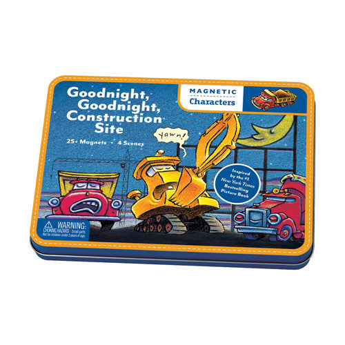 Mudpuppy Magnetic Characters Goodnight Goodnight Construction Site