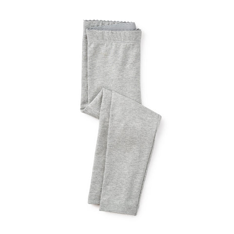 Tea Collection Solid Leggings Med Heather Grey
