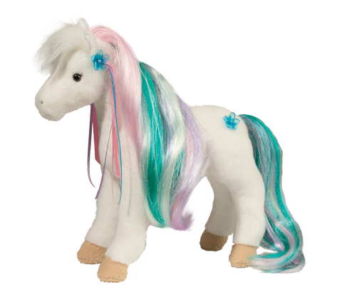Douglas Rainbow Princess Horse With Brush