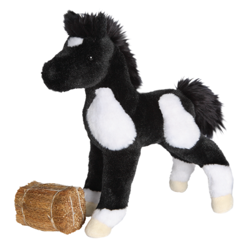 Douglas Runner Black and White Paint Foal 10""