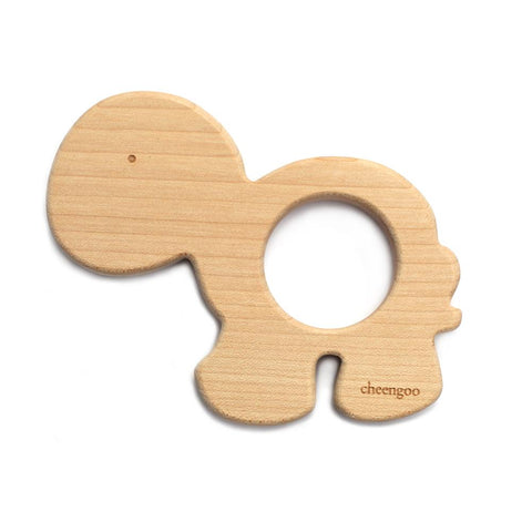 Cheengoo Wooden Teether Turtle