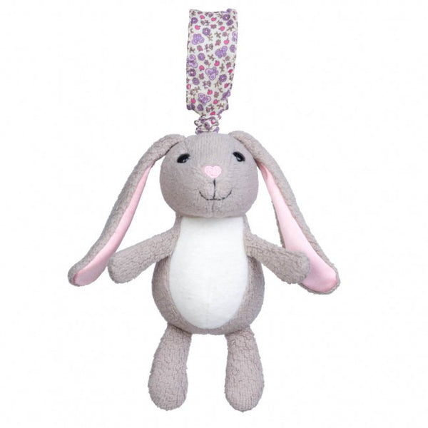 Apple Park Organic Cotton Stroller Toy – Bunny