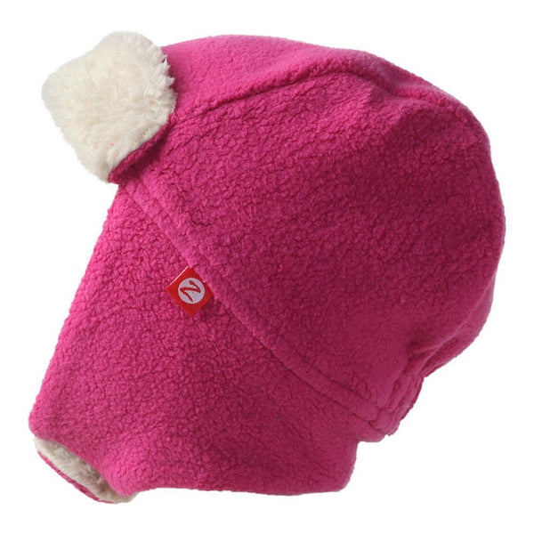Zutano Toddler Cozie Fleece Furry Trapper Hat Fuchsia