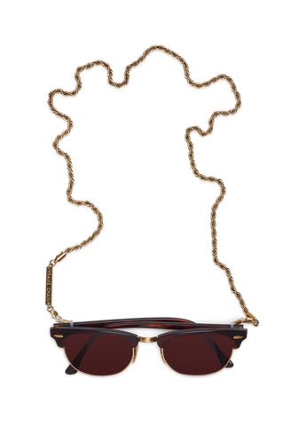 FRAME CHAIN - ROLLER CHAIN in YELLOW GOLD - Glasses chain