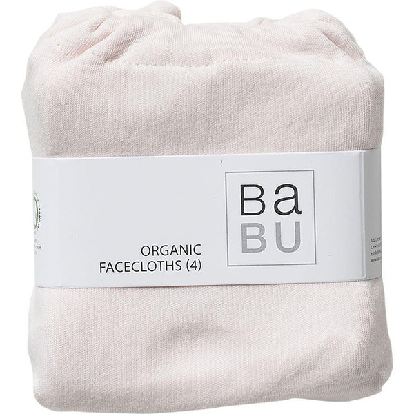 Babu | Organic Cotton | Face Washers | 4 Pack | Shell or Shell Star Wash Cloths Babu Shell