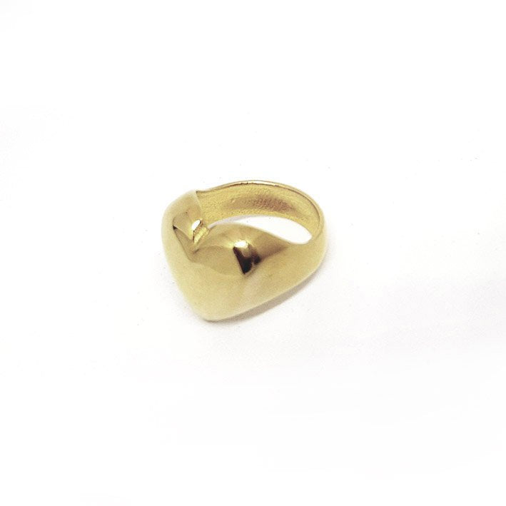 Perfect golden heart ring