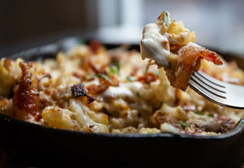 Perfect Cheddar Cauli Mac and Cheese with Bacon Recipe