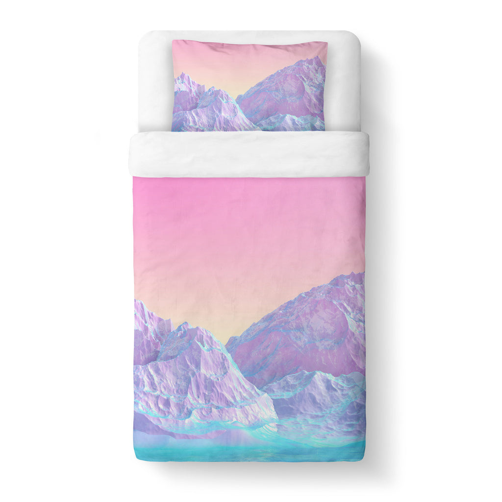 Pastel Mountain Duvet Cover-Gooten-Twin-| All-Over-Print Everywhere - Designed to Make You Smile