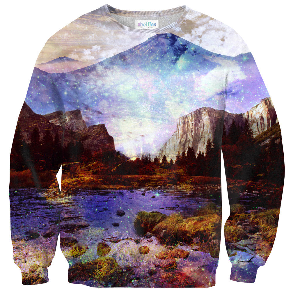 Misty Mountains Sweater-Shelfies-| All-Over-Print Everywhere - Designed to Make You Smile