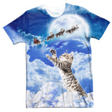 Meowy Christmas T-Shirt-kite.ly-| All-Over-Print Everywhere - Designed to Make You Smile