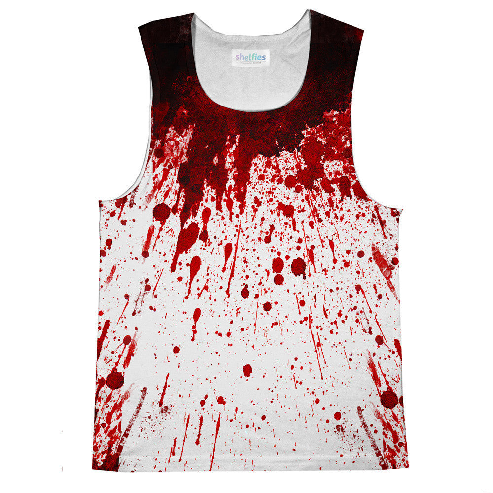 Blood Splatter Tank Top-kite.ly-| All-Over-Print Everywhere - Designed to Make You Smile