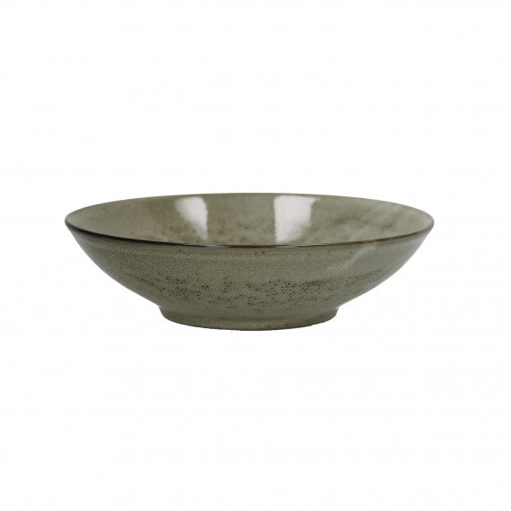MIRHA - SOUP PLATE - STONEWARE - GREIGE