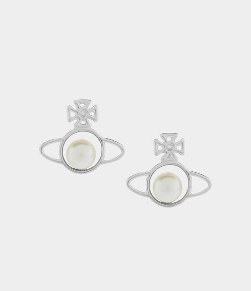 Vivienne Westwood OTAVIA ORB SMALL EARRINGS SILVER TONE