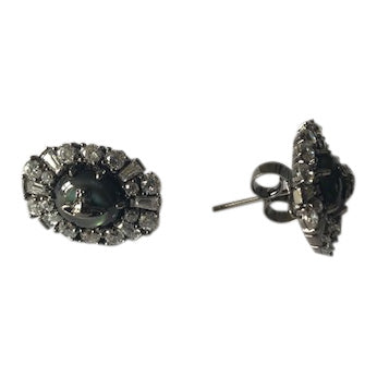 Vivienne Westwood Irina stud Earrings - ruthenium