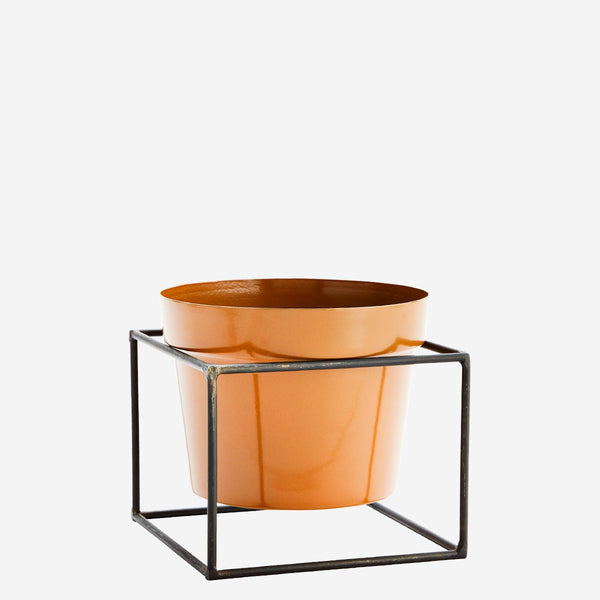 Flower Pot w/ Square Stand - Mustard