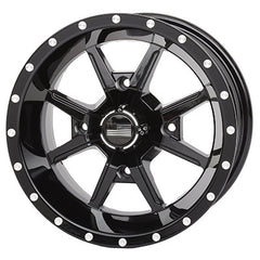 Frontline All Terrain 556 Black ATV UTV Wheels - 12x7 14x7