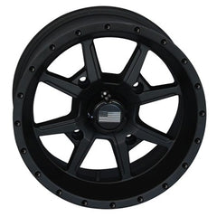 Frontline Stealth Flat Black ATV UTV Wheels 14x7