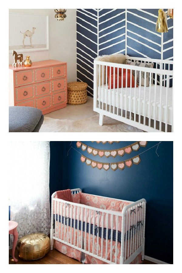 How to use navy blue for girls rooms and nurseries