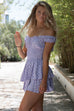 Vancouver Lavender Polka Dot Mini Dress