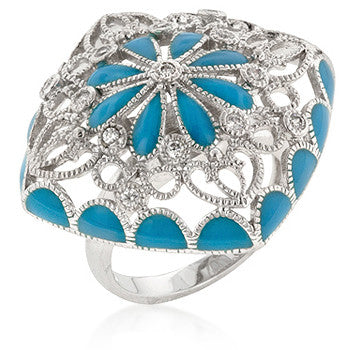 Blue French Victorian Ring