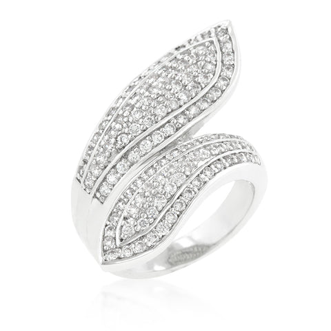 A Royal Hug - Beautiful Hypollergenic Ring Embedded With Cubic Zirconias