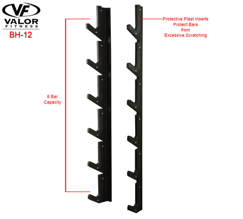 ValorPRO Wall mount olympic bar rack
