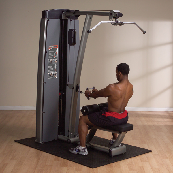 Body-Solid - DUAL LAT/ROW-MACHINE, FREESTANDING 210LB STACK