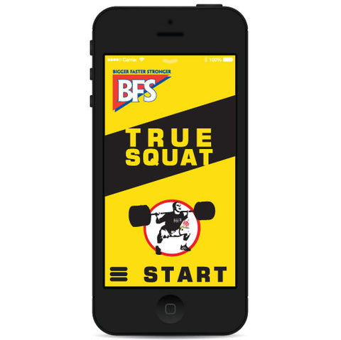 TrueSquat Smart Phone App