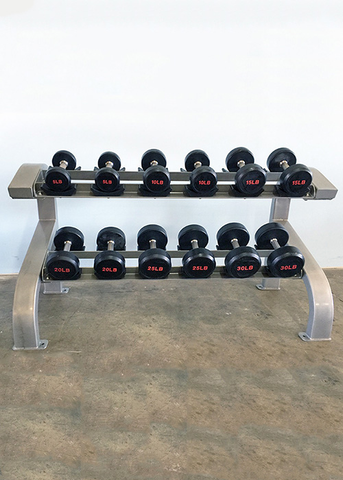 Two Tier 6 Pairs Dumbbell Rack - Muscle D