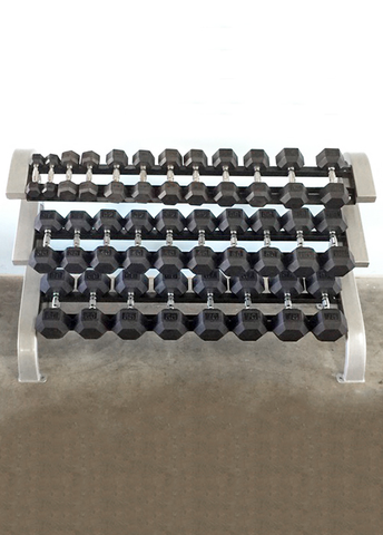 Three Tier Hex Dumbbell Rack (Long) - Muscle D
