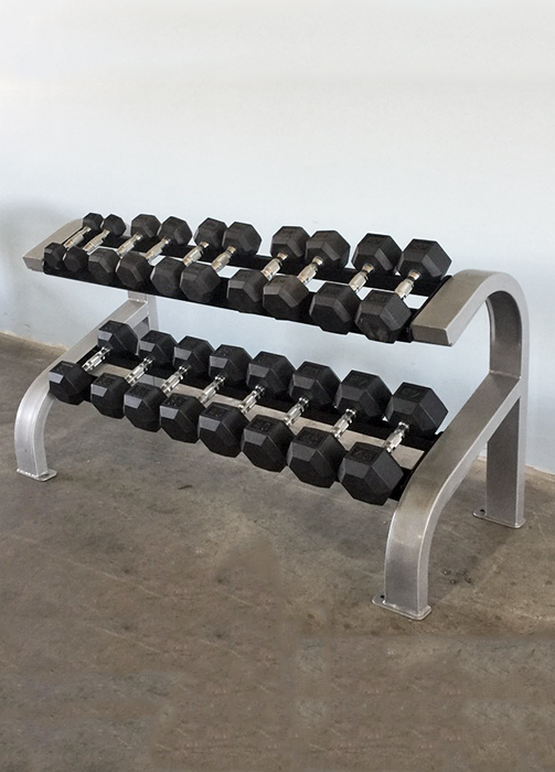 Two Tier Hex Dumbbell Rack (Short) - Muscle D