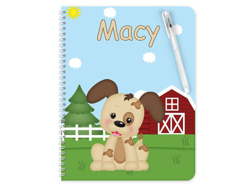 On the Farm Dog Kids Notebook