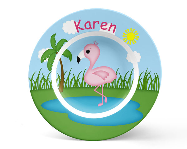 Flamingo Kids Plate
