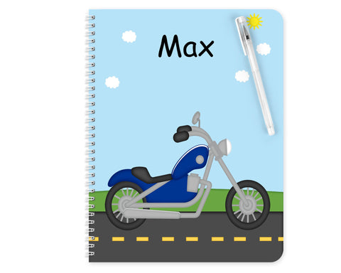 Lets Ride Motorcycle Kids Notebook