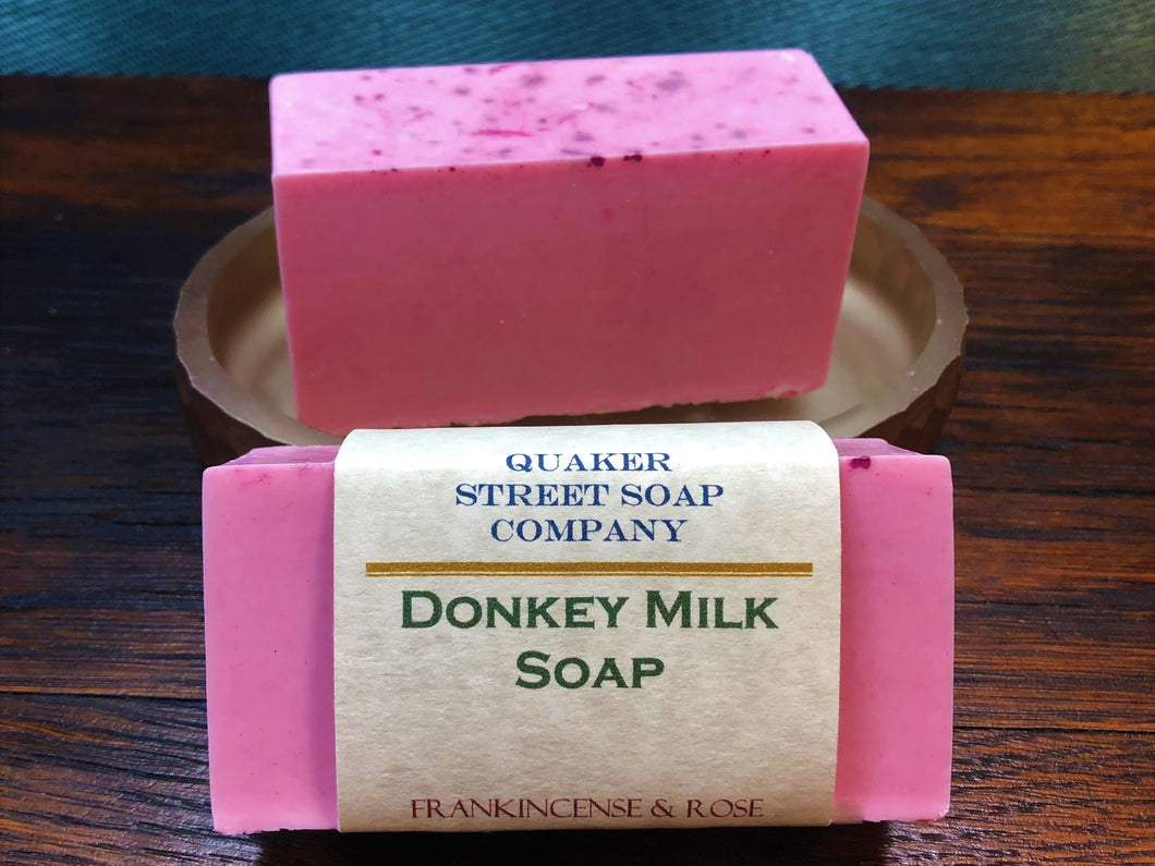 Frankincense and Rose Donkey Milk Soap