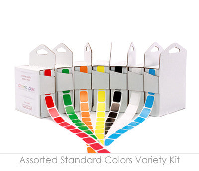 Colored, Rectangular Labels in Dispenser Boxes