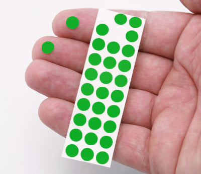 "Green 0.25"" Dot Labels"