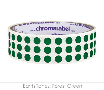 "0.25"" Forest Green Round Dot Stickers"